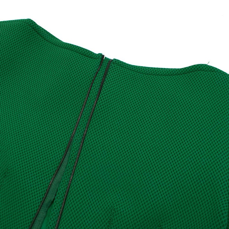 Lanvin Green Fitted Mesh Dress SIZE M For Sale 1