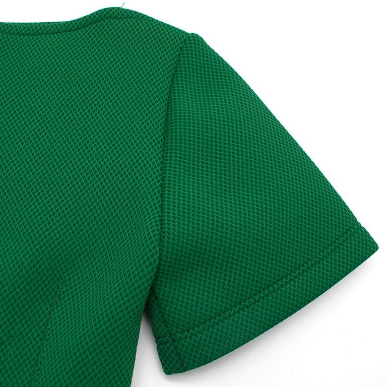 Lanvin Green Fitted Mesh Dress SIZE M For Sale 2
