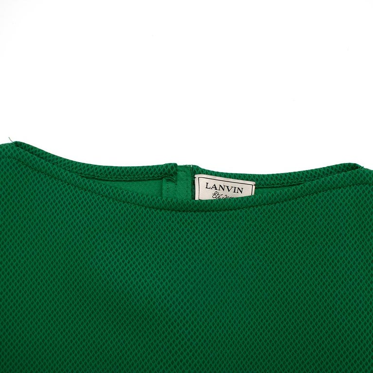 Lanvin Green Fitted Mesh Dress SIZE M For Sale 3