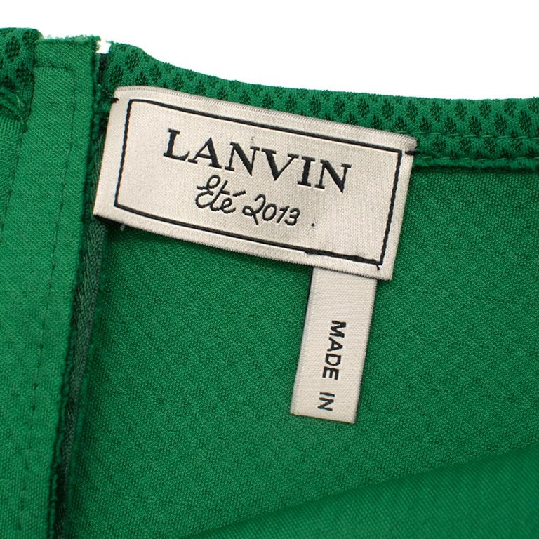 Lanvin Green Fitted Mesh Dress SIZE M For Sale 4