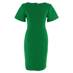 Lanvin Green Fitted Mesh Dress Size estimated M