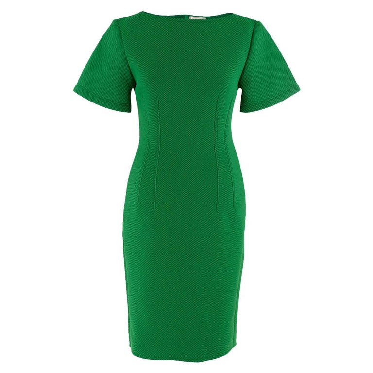 Lanvin Green Fitted Mesh Dress SIZE M For Sale