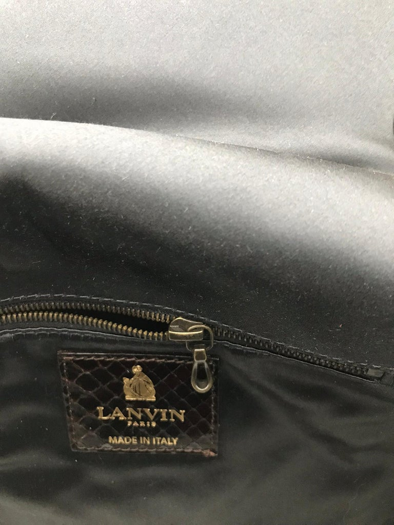 Lanvin Happy Red Python Black Trim Shoulder Bag  For Sale 5