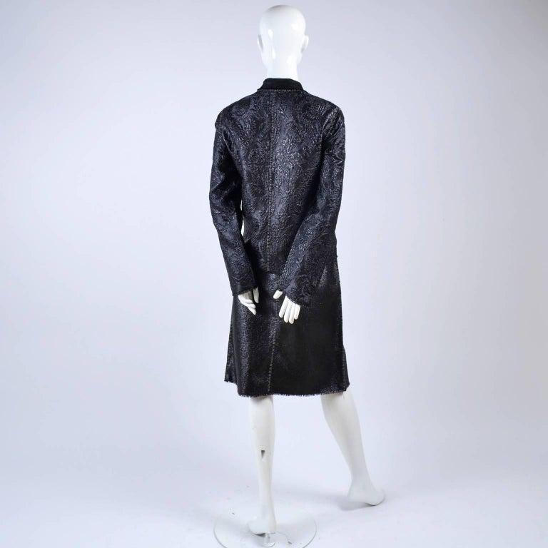 Lanvin Jacket & Skirt Suit by Alber Elbaz in Black Metallic Spring Summer 2003  For Sale 6