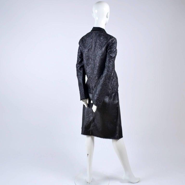 Lanvin Jacket & Skirt Suit by Alber Elbaz in Black Metallic Spring Summer 2003  For Sale 7