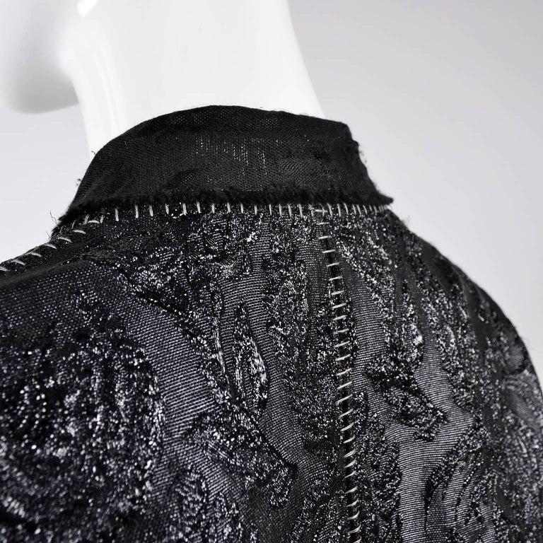 Lanvin Jacket & Skirt Suit by Alber Elbaz in Black Metallic Spring Summer 2003  For Sale 9