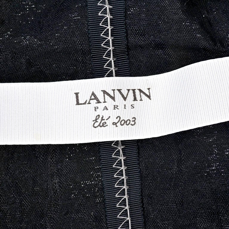 Lanvin Jacket & Skirt Suit by Alber Elbaz in Black Metallic Spring Summer 2003  For Sale 11