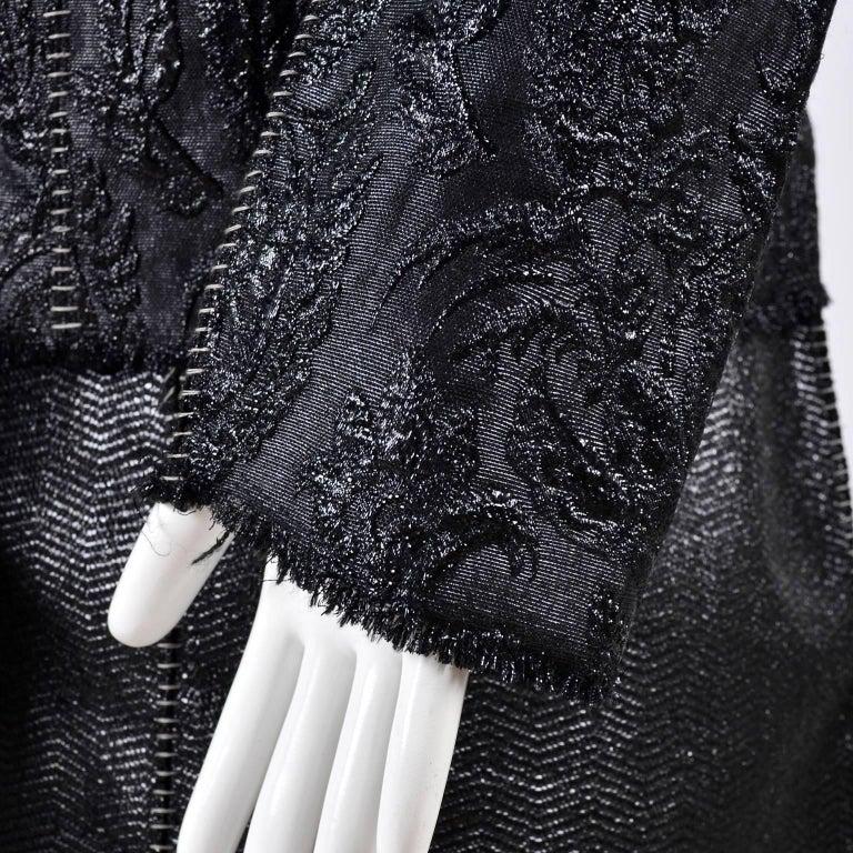 Lanvin Jacket & Skirt Suit by Alber Elbaz in Black Metallic Spring Summer 2003  For Sale 2
