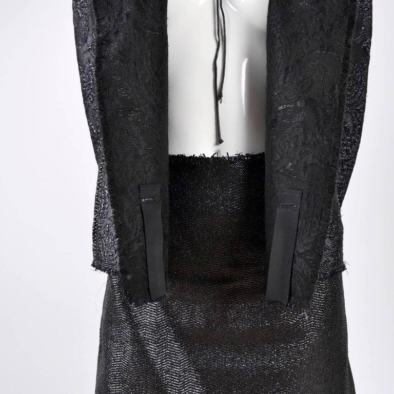 Lanvin Jacket & Skirt Suit by Alber Elbaz in Black Metallic Spring Summer 2003  For Sale 3