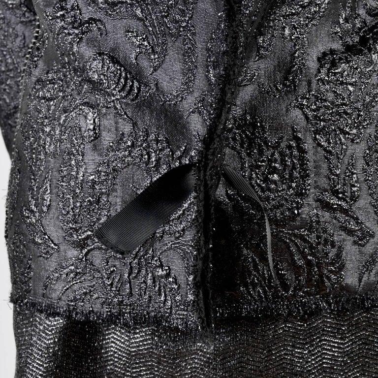 Lanvin Jacket & Skirt Suit by Alber Elbaz in Black Metallic Spring Summer 2003  For Sale 5