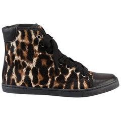 Lanvin Leopard Print Calf Hair Sneakers