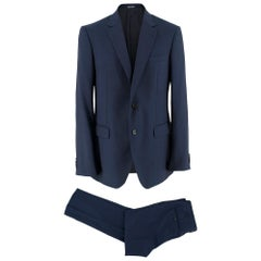 Lanvin Men's Navy Wool Tailored Suit	SIZE 50