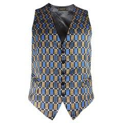 Lanvin Mens Vintage Silk Waistcoat Vest EU 50
