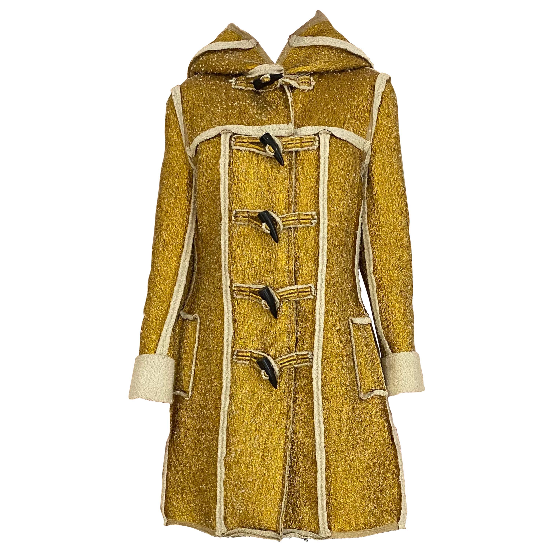Lanvin Metallic Gold Coat with hood
