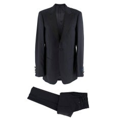 Lanvin Navy Blue Single Breasted Suit	 44R (Blazer) 44 (Trousers)