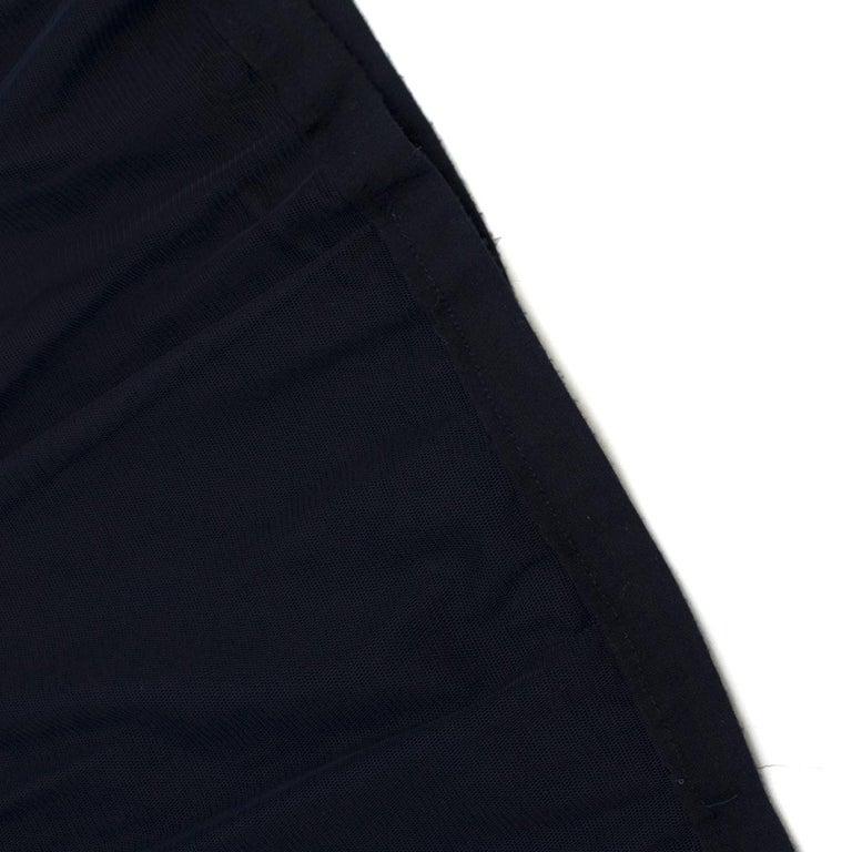 Lanvin Navy Cotton Mesh Top L For Sale 2