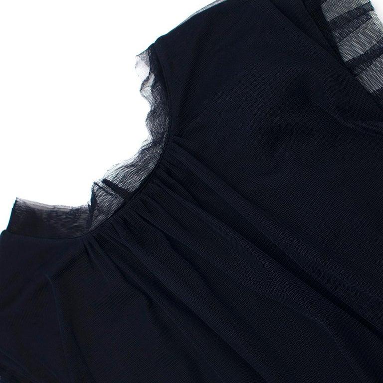 Lanvin Navy Cotton Mesh Top L For Sale 4