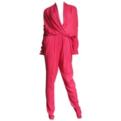 Lanvin New Draped Silk Jumpsuit