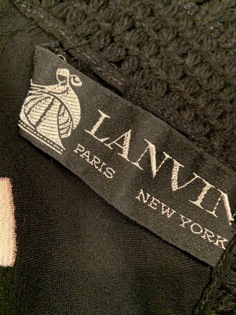 Lanvin Night and Day Half Beaded and Half Plain Wool Challis Shawl circa 1970 For Sale 13