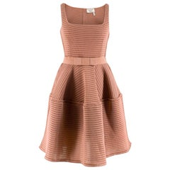 Lanvin Nude A-Line Perforated Dress - Size US 8