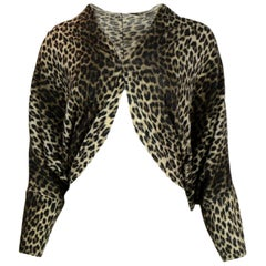 Lanvin NWT Leopard Print Cocoon Sweater sz Medium rt $1,985