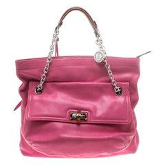 Lanvin Pink Leather Chain Shoulder Bag