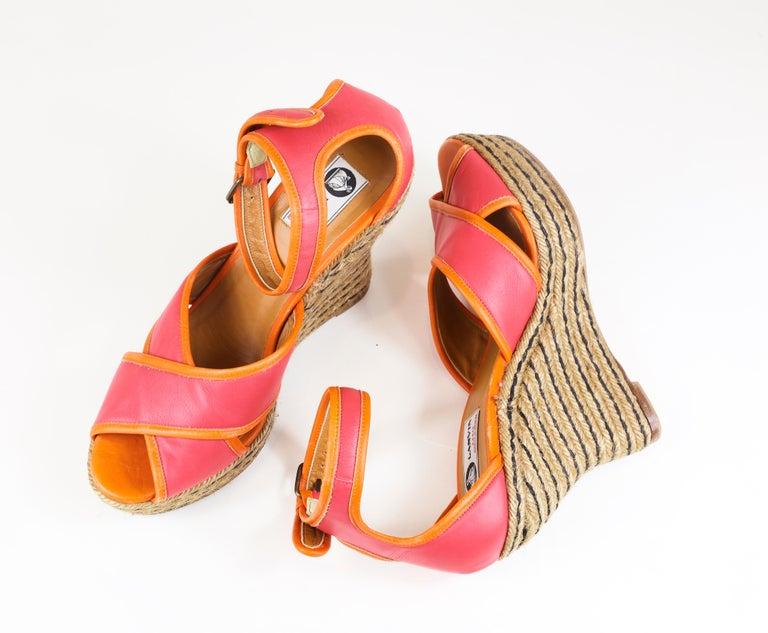 Women's Lanvin Platform Espadrille Size 41 For Sale