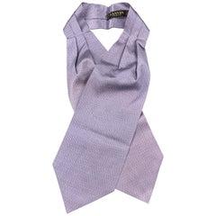 LANVIN Print Lavender Silk Ascot Scarf