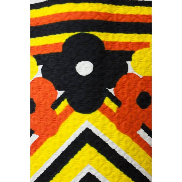 Lanvin printed cotton piqué  maxi skirt, circa 1970 For Sale 3