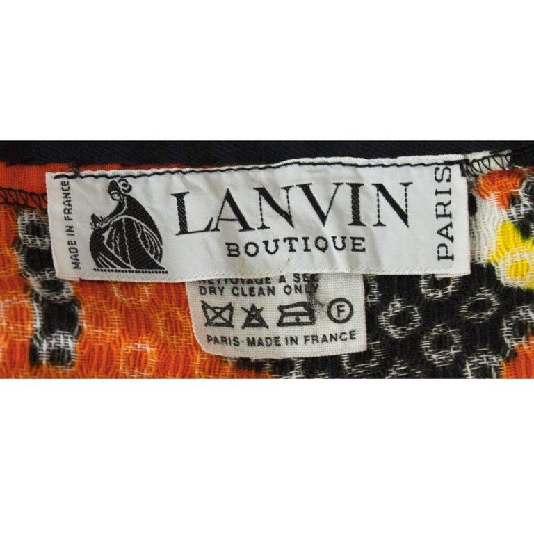 Lanvin printed cotton piqué  maxi skirt, circa 1970 For Sale 4
