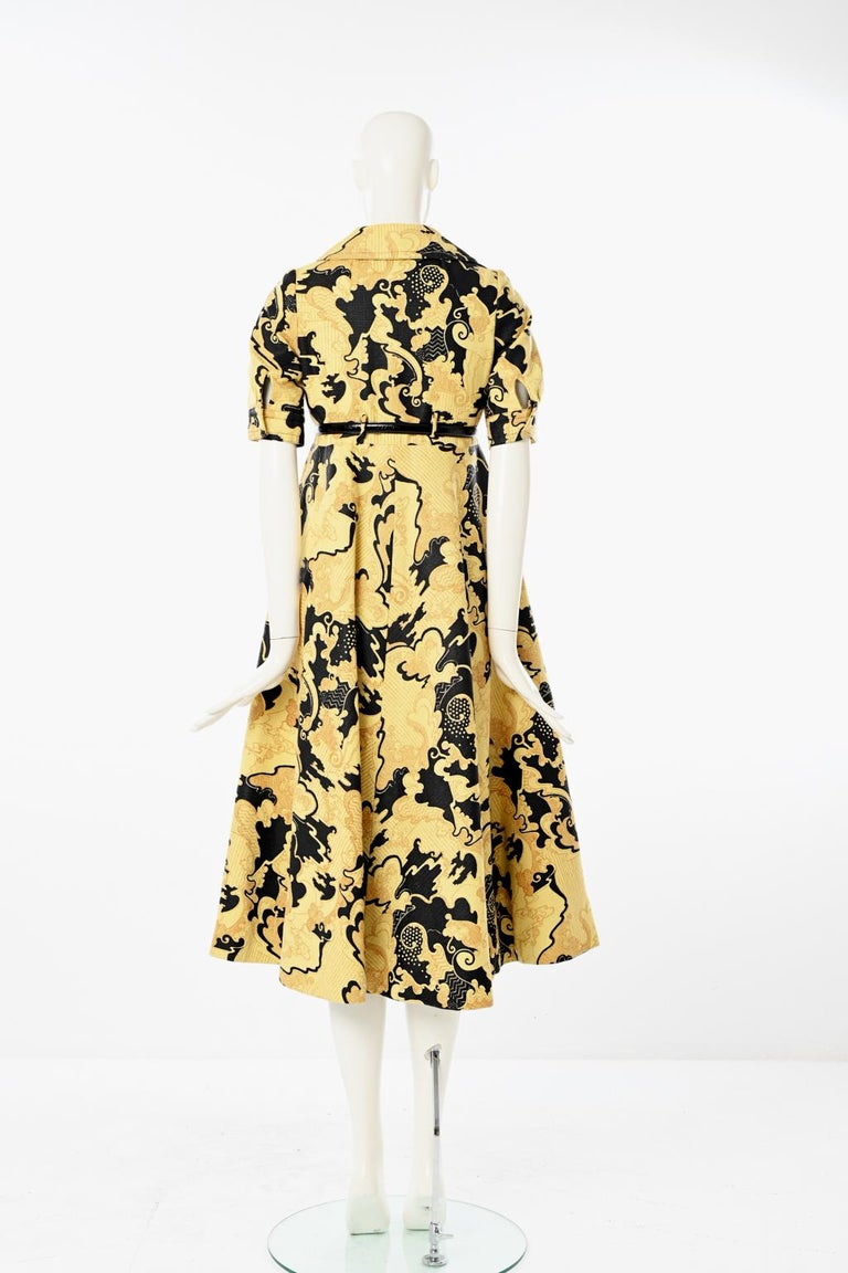 Lanvin Printed Shirt Dress For Sale 7