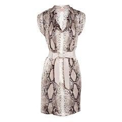 LANVIN Python-print silk dress