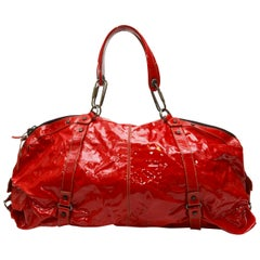 Lanvin Red Large Patent Tote Bag
