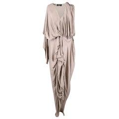 Lanvin Ruched Grey Dress SIZE 38