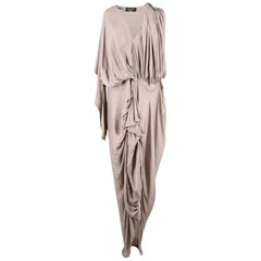 Lanvin Ruched Grey Dress - Size US 6