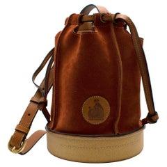 Lanvin Rust Suede Bucket Bag