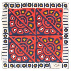 Lanvin Silk Printed Scarf, 1970s