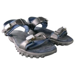 LANVIN Size 10 Black Solid Neoprene Sandals