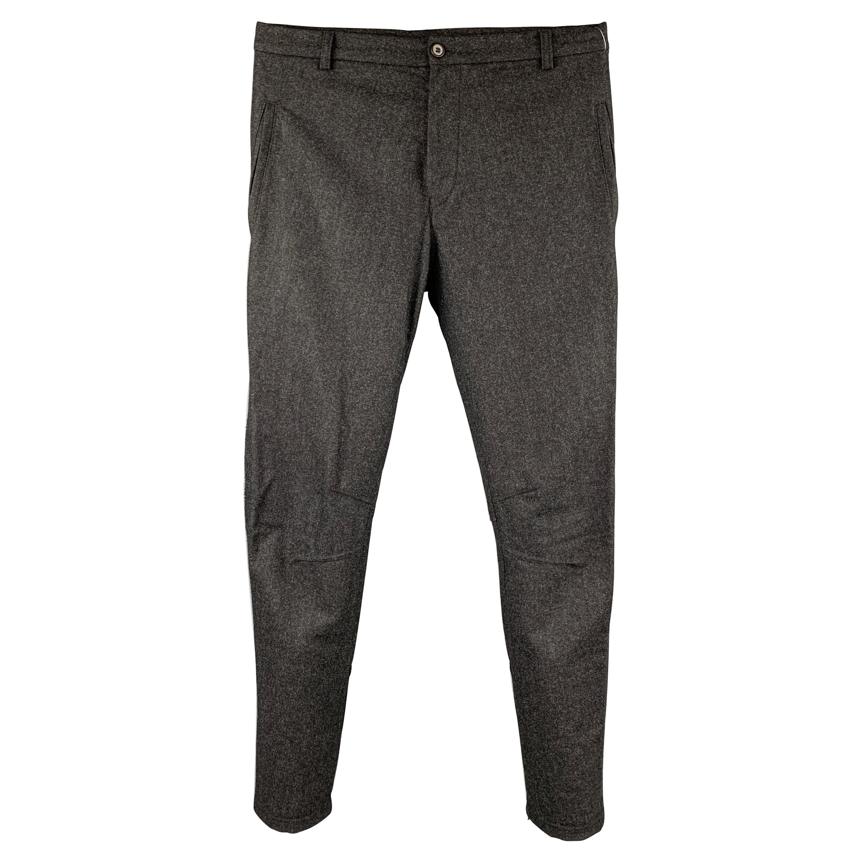LANVIN Size 30 Charcoal Heather Sable Narrow leg Dress Pants