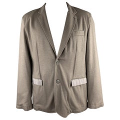 LANVIN Size 42 Taupe Wool / Cashmere Notch Lapel Sport Coat