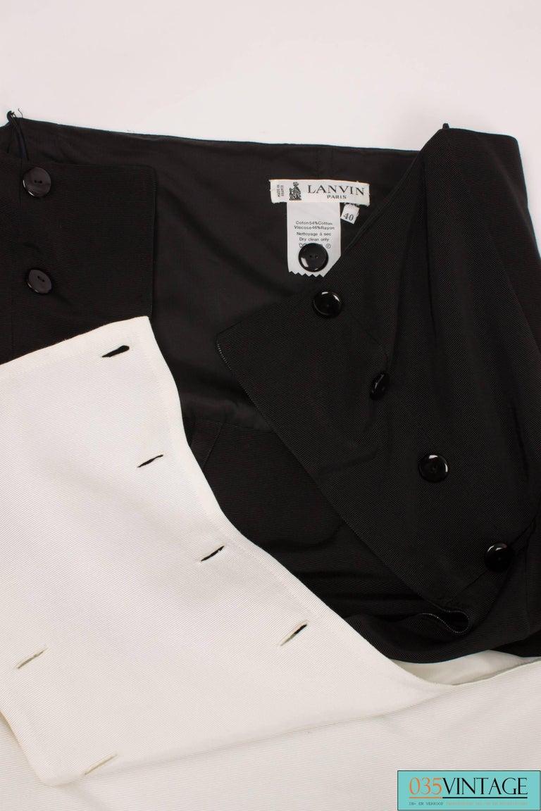 Women's Lanvin Strapless Dress Vintage - black & white 80's  For Sale