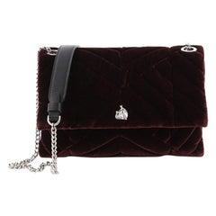 Lanvin Sugar Flap Shoulder Bag Quilted Velvet Mini