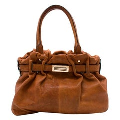 Lanvin Tan Brown Leather Belter Shoulder Bag