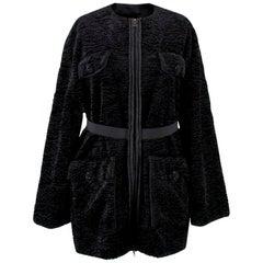 Lanvin Textured Embellished Coat - Size US 4