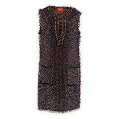 Lanvin Tweed Sleeveless Shift Dress