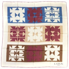 Lanvin Vintage Silk Geometric Scarf