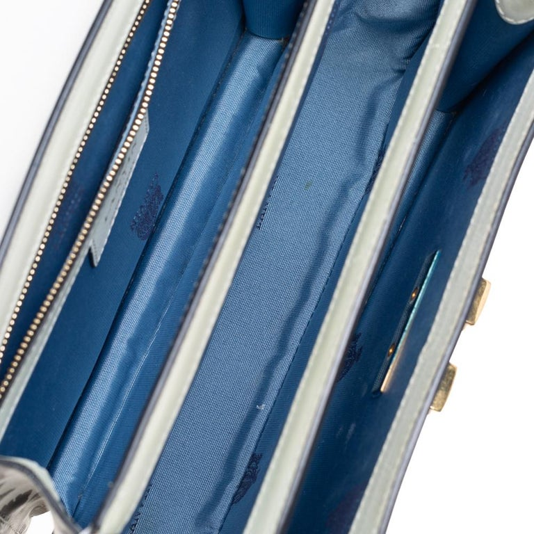 Lanvin White/Black Printed Leather Jiji Shoulder Bag For Sale 2