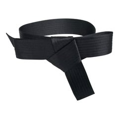 Lanvin Wide Quilted Black Belt in Satin with a Bow