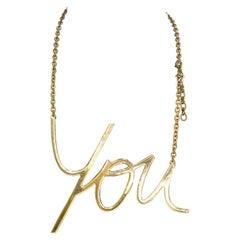 """Lanvin """"You"""" Script Necklace"""