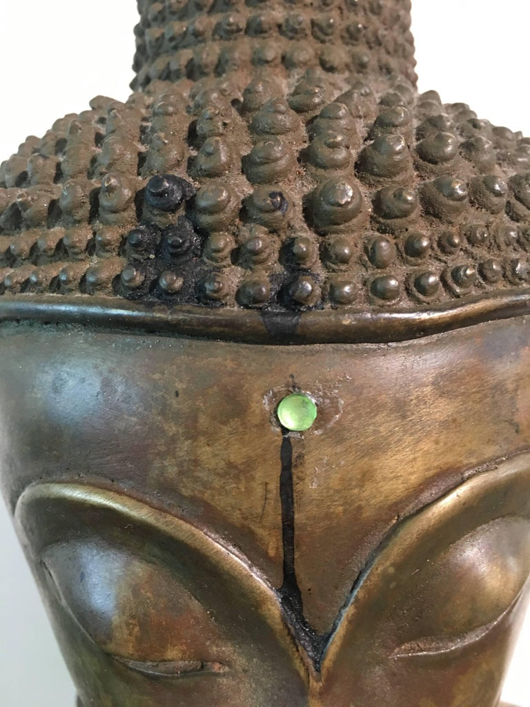 Lao Cast Bronze Shakyamuni Buddha, 17th-18th Century For Sale 10